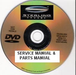Sterling Factory Parts Manual & Service manual on DVD - VIN Specific