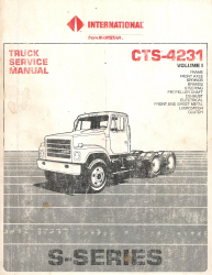 1987 International S-Series Factory Truck Service Manual - 2 Volume Set