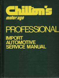 1972 - 1977 Chilton's Import Auto Service Manual & Labor Guide