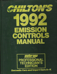 1980 - 1992 Chilton's Emission Controls Manual Domestic & Import Cars & Trucks A thru K