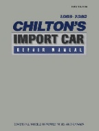 1988 - 1992 Chilton's Import Auto Repair Manual- Good