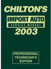 2003 Chilton's Import Auto Service Manual, Shop Edition (1999 - 2002 Year coverage)