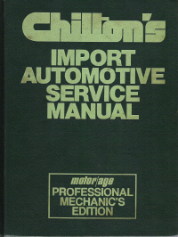 1975 - 1981 Chilton's Import Auto Service Manual, Shop Edition