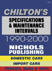 Specifications & Maintenance Intervals by Chilton