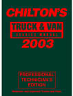 2003 Chilton's Truck & Van Service Manual, Shop Edition (1999 - 2002 Year coverage)
