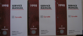 1998 Chevrolet Corvette Factory Service Manual - 3 Volume Set