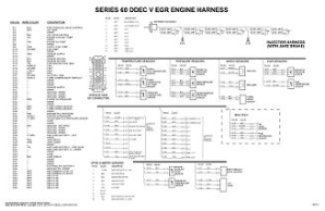 Detroit Diesel DDEC V EGR with Jake Brake Engine/Cab Wiring Diagram Schematic