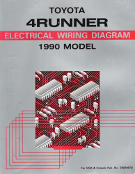 1990 Toyota 4Runner Factory Electrical Wiring Diagrams Manual