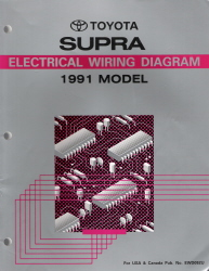 1991 Toyota Supra Electrical Wiring Diagram Manual