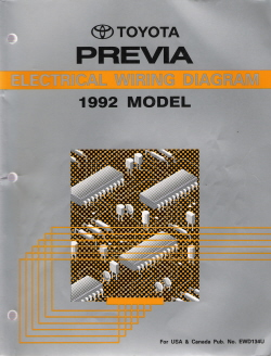 1992 Toyota Previa Factory Electrical Wiring Diagram