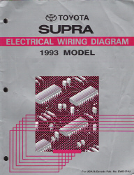 1993 Toyota Supra Factory Electrical Wiring Diagram Manual