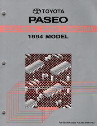 1994 Toyota Paseo Electrical Wiring Diagram Manual
