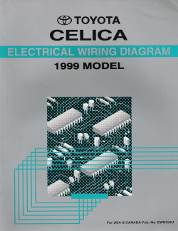 1999 Toyota Celica Electrical Wiring Diagram Manual