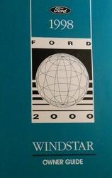 1998 Ford Windstar Owner's Manual with Case