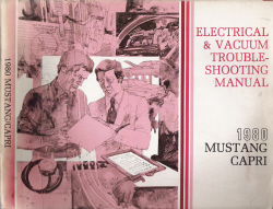 1980 Ford Mustang / Mercury Capri (EVTM) Electrical & Vacuum Troubleshooting Manual