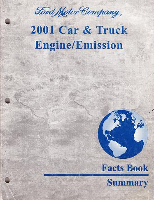 2001 Ford Car & Truck Engine / Emission Facts Book Summary