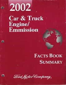 2002 Ford Car & Truck Engine / Emission Facts Book Summary