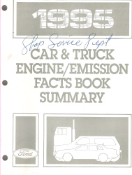 1995 Ford Car & Truck Engine / Emission Facts Book Summary