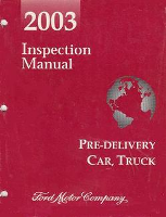 2003 Ford Pre-Delivery Inspection Manual