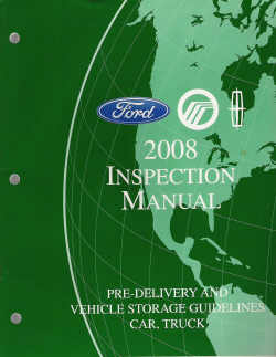 2008 Ford Inspection Manual