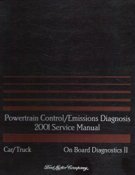 2001 Ford Car/Truck OBD-II Powertrain Control and Emissions Diagnosis Service Manual