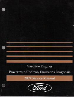 2009 Ford Powertrain Control/Emissions Diagnosis Factory Service Manual - Gasonline Engines