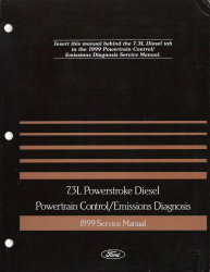 1999 Ford 7.3L Powerstroke Diesel Powertrain Control and Emissions Diagnosis Service Manual