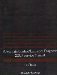 2003 Ford Car and Truck Powertrain Control and Emission Diagnosis Manual Gas Only