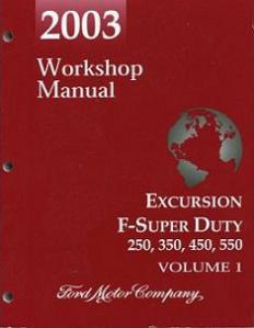 2003 Ford Excursion, F250, F350, F450, F550 & F-Super Duty Factory Workshop Manual - 2 Volume Set