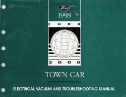 1998 Lincoln Town Car Electrical Vacuum and Troubleshooting Manual