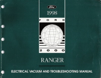 1998 Ford Ranger  Electrical and Vacuum Troubleshooting Manual