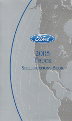 2005 Ford Truck Specifications Book