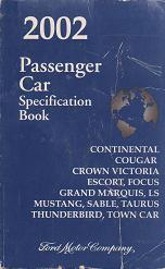 2002 Ford Passenger Car Specification Book