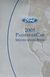 2005 Ford Passenger Car Specifications Book