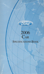 2006 Ford Factory Car Specifications Book