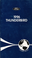 1996 Ford Thunderbird Owner's Manual with Case