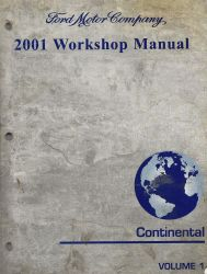 2001 Lincoln Continental Workshop Manual   2 Volume Set