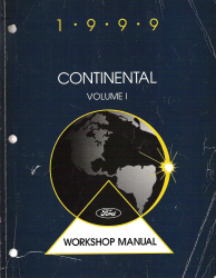 1999 Lincoln Continental Factory Workshop Manual - 2 Volume Set