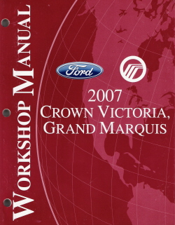 2007 Ford Crown Victoria & Mercury Grand Marquis Factory Service Manual