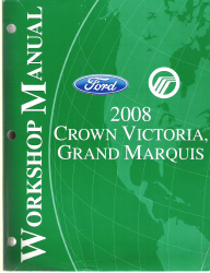2008 Ford Crown Victoria & Mercury Grand Marquis Factory Service Manual
