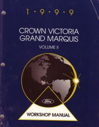 1999 Ford Crown Victoria & Mercury Grand Marquis Factory Service Manual - 2 Volume Set