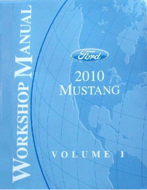 2010 Ford Mustang Factory Service Manual - 2 Volume Set