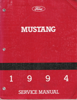 1994 Ford Mustang Factory Service Manual