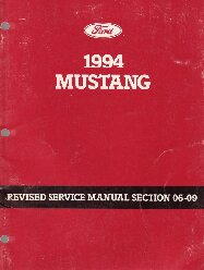 1994 Ford Mustang Factory Service Manual Supplement