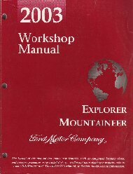 2003 Ford Explorer / Mercury Mountaineer Workshop Manual