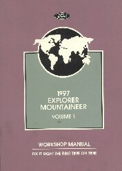 1997 Mercury Mountaineer Factory Workshop Manual - 2 Volume Set