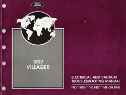 1997 Mercury Villager Electrical and Vacuum Troubleshooting Manual