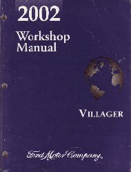 2002 Mercury Villager Workshop Manual