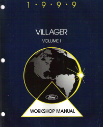 1999 Mercury Villager Factory Service Manual - 2 Volume Set