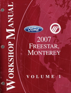 2007 Ford Freestar, Mercury Monterey Factory Service Manual - 2 Volume Set
